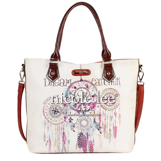 nicole lee dorothy dream cather print shopper bag